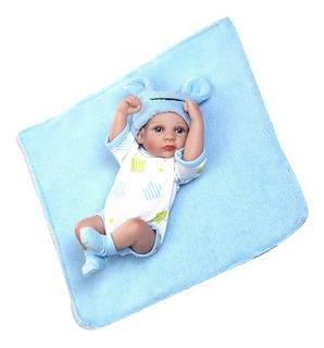 Muñeco Bebote Recién Nacido Mt D/silicona Suave C/ropa/manta