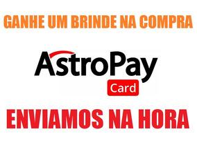 Astropay Card 300 Brl Recarga Crédito Vale Presente + Brinde