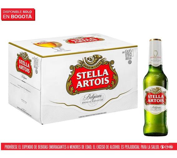 Cerveza Stella Artois, 24 Botellas 330 M - mL a $11