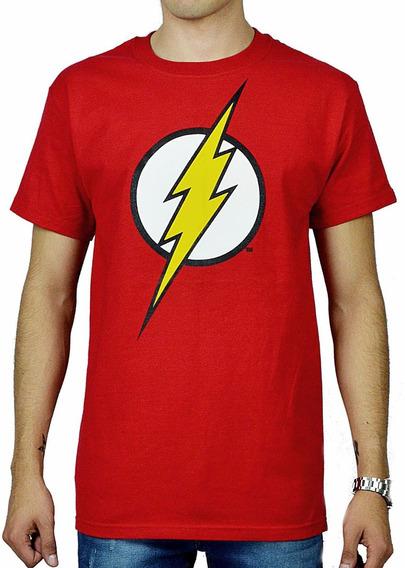 Playera Dc Comics Logo De Flash Clasico Justice League