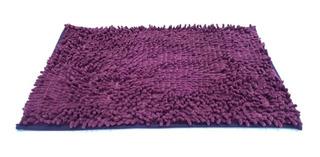 Alfombra De Microfibra Absorbente Para Baño Dormitorio Antideslizante Flecos Varios Colores