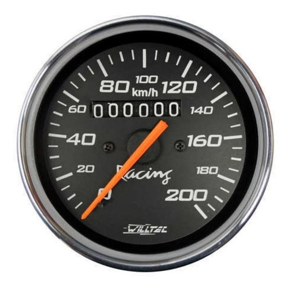 Velocímetro Willtec 85mm Fusca Buggy Vw Painel Relógio