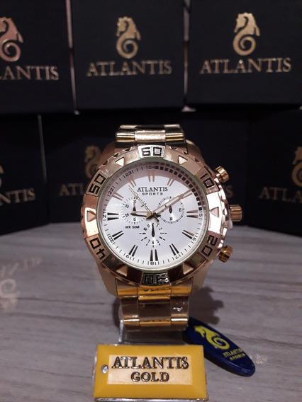 Relogio Original Masculino Atlantis - Modelo G3243 Na Caixa