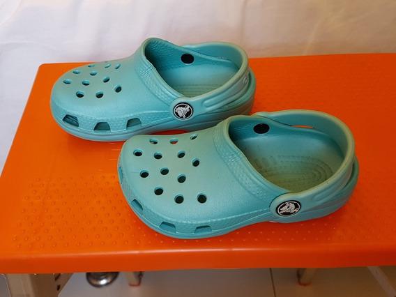 Sapato Infantil Crocs Original Azul 25 Pouco Usado