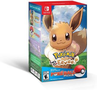 Pokemon Lets Go Eevee! Pokeball Plus Nuevo Y Sellado
