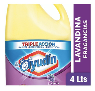Lavandina Ayudín Triple Acción Lavanda 4 L