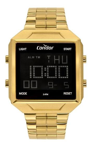 Relógio Condor Digital Masculino Dourado