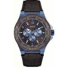 Relógio Masculino Guess 92587gpgsec4 Couro Marrom