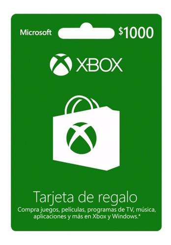 Imagen 1 de 1 de Dinero Xbox Live $1000.00, ¡¡envio Inmediato!! Zugars Game