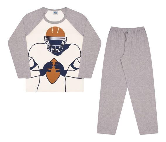 Pijama Infantil Bicho Bagunça Futebol Americano