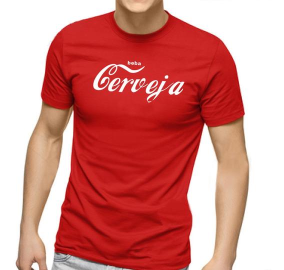 Camiseta Masculina Beba Cerveja - 100% Algodão