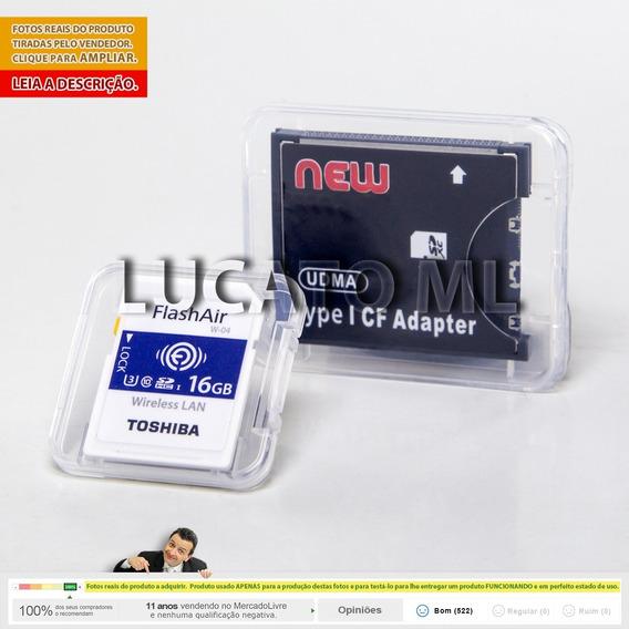 Adaptador Cf + Sd Wifi 16gb W04 Flashair Em 12x +fretegrátis