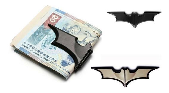 Clip Billetes Magnético Batman Plegable Sujetar Negro Gris E