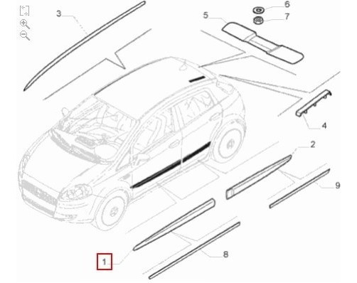 Friso Lateral Porta Dianteira Ld Fiat Punto 2003-2017