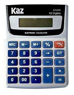 Calculadora De Mesa 12 Digitos 1039 Kaz