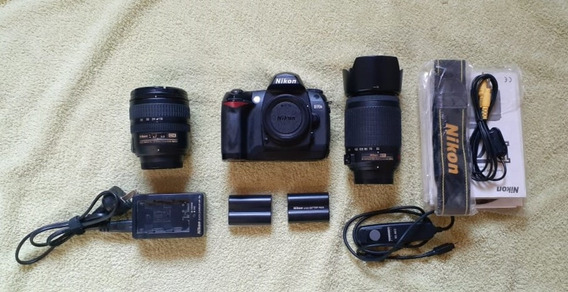 Nikon D70s + 18-70mm + 55-200mm +extras. Ideal Principiantes