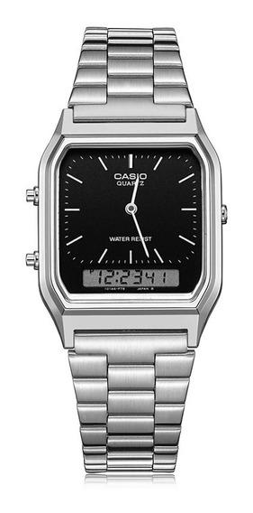 Relógio Casio Original Em Aço Inoxidável Analógico E Digital