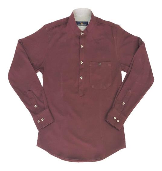 Oferta Camisa Coral Cuello Mao Corte T/playera Marca Polo