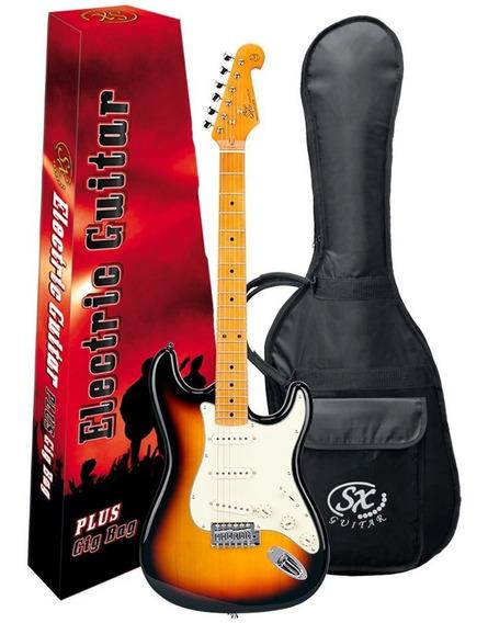 Guitarra Electrica Sx Vintage 3 M Palanca Funda Pua Fst57 Sb