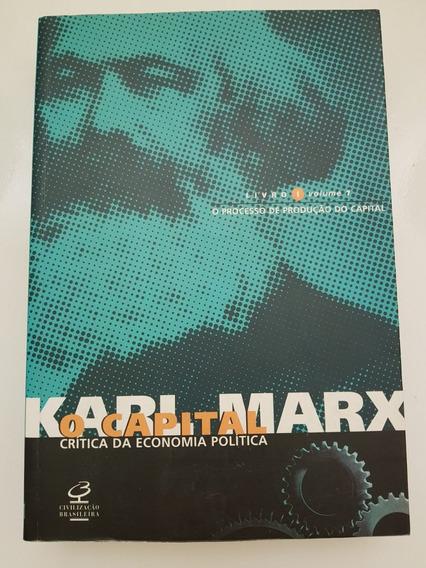 Livro O Capital Crítica Da Economia Política Karl Marx