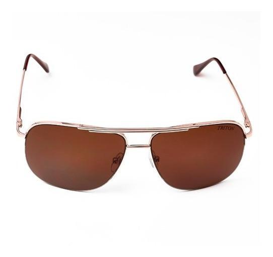 Óculos Triton A2119 - Dourado - Metal - 12x Sem Juros
