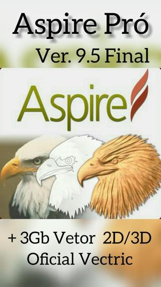 Programa Aspire 9.5 Pró Para Máquinas Cnc + Pacote De Vetor