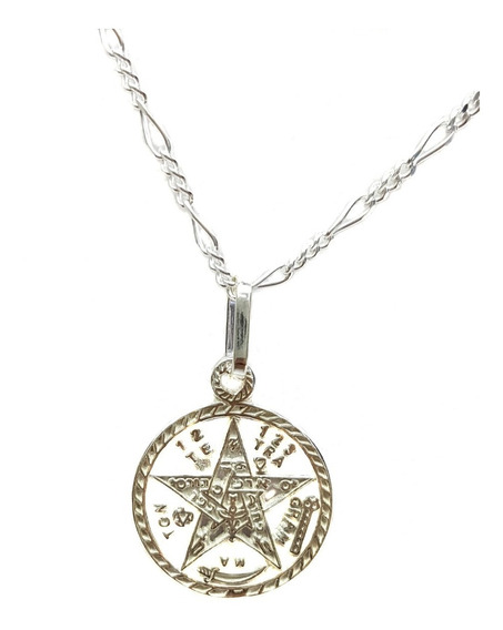 Dije De Tetragramaton Mediana Plata Ley .925 Incluye Cadena
