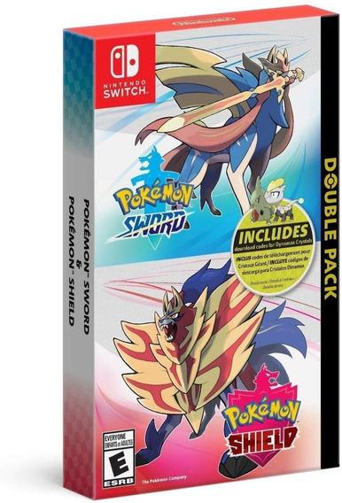 Mídia Física Pokemon Sword And Shield Double Pack - Lacrado!