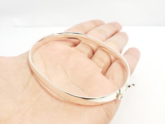 Bracelete 6.5cm De Prata Grosso Feminino Novo Na Promoçao