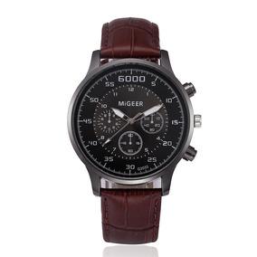 Relógio Design Retro Migeer Quartzo Masculino