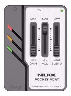Cuotas Interfaz De Audio Usb Mini Nux Pocket Port