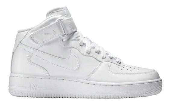 Tenis Nike Air Force 1 Mid De Hombre Blancos Botin