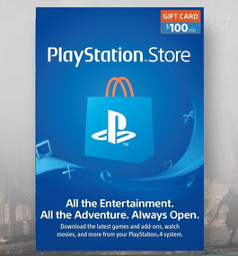 Card Psn $100 Usd Dólares Americano Gift Playstation Network