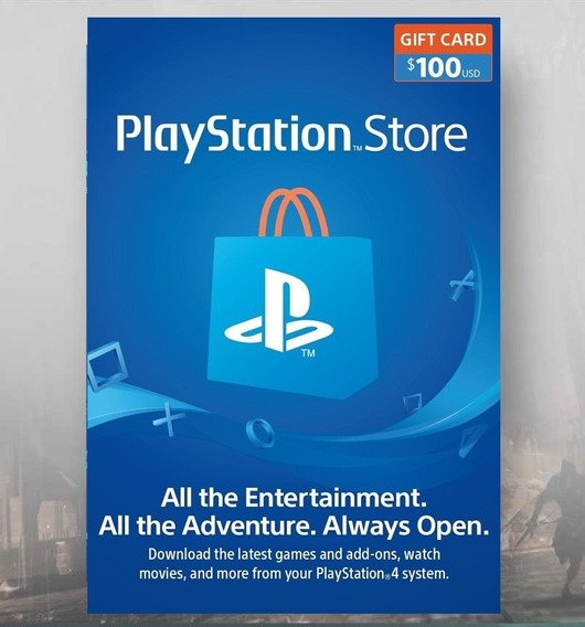 Card Psn $100 Usd Dólares Americano Gift Playstation Network