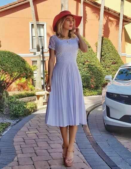 Vestido Plissado Midi Luxo Com Brinde Cinto Pérolas
