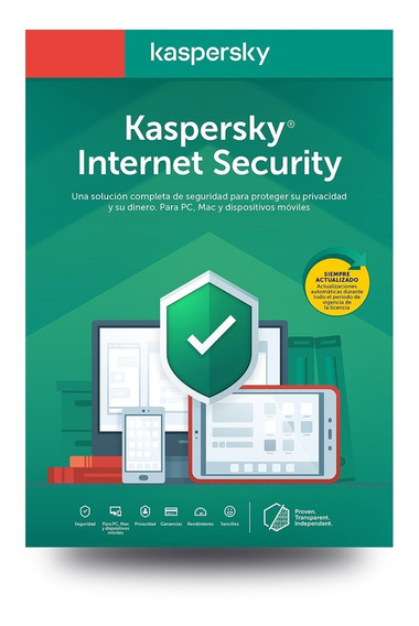 Kaspersky Internet Security 5 Dispositivos 1 Año