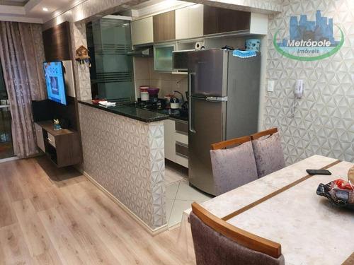 Apartamento À Venda, 55 M² Por R$ 297.000,00 - Gopoúva - Guarulhos/sp - Ap1212