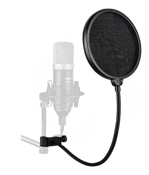 Pop Filter Anti Puff P/ Microfone Condensador Studio Kelter