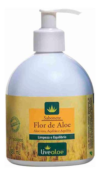 Sabonete Liquido Natural De Flor De Aloe 480 Ml Da Live Aloe