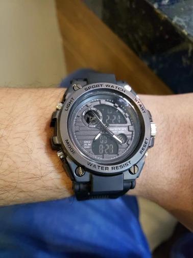 Relógio Masculino Sanda Preto À Prova Dágua Modelo 739