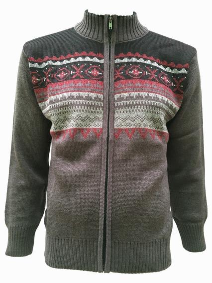 Suéter Con Figura Cierre Completo Hombre