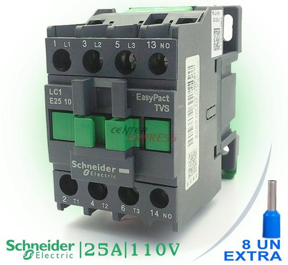 Contator Tripolar Schneider Lc1-e2510 25a 1no 110v Original