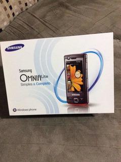 Samsung Omnia Lite Gt B7300b Windows Móbile Não É Android