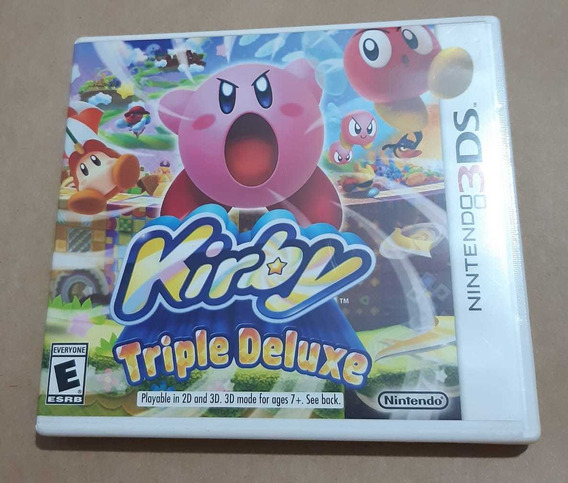 Kirby Triple Deluxe 3ds Mídia Fisica Completo
