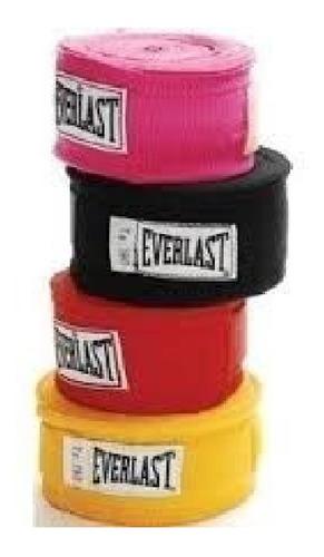 Venda De Algodón - Everlast - 304 Cm - Rojo/negro/rosado/azu