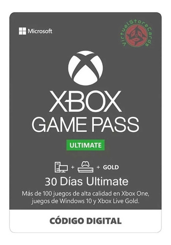 Xbox Live Gold Ultimate Game Pass 1 Mes Promocion Vacaciones