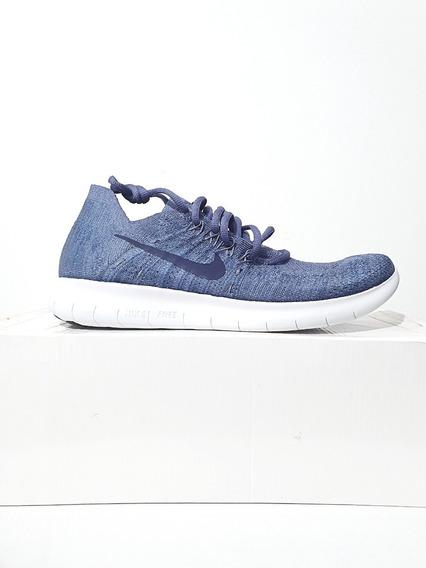 Tênis Nike Free Rn Flyknit 2017 Corrida Azul N. 39