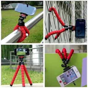 Tripé Flexível C/ Suporte Para Celular E Cameras 18 Cm