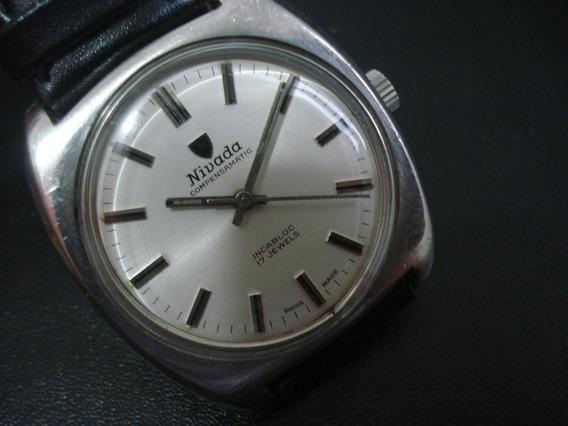 Relógio Suiço Nivada Compensamatic Antigo Coleção
