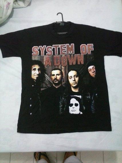 Camiseta System Of A Down - Master Rock/g 100% Alg. (nova)